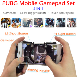 Controlador de juego móvil PUBG Gamepad + L1 R1 botón de disparo Aim L1R1 tirador + Joystick de almohadilla táctil para iPhone Android teléfono de juego