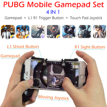 PUBG Mobile Game Controller Gamepad + L1 R1 Trigger Aim Button L1R1 Shooter +
