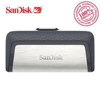 SanDisk usb флэш-диск ultra Dual USB3.1 диск OTG Тип-C 150 м/с 16 ГБ 32 ГБ 64 ГБ 128 ГБ для смартфонов sdddc2