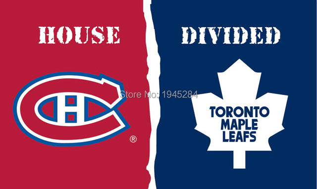 Montreal Canadiens Toronto Maple Leafs House Divided Flag Banner New 3x5ft  90x150cm Polyester NHL 9678 3e088fe69