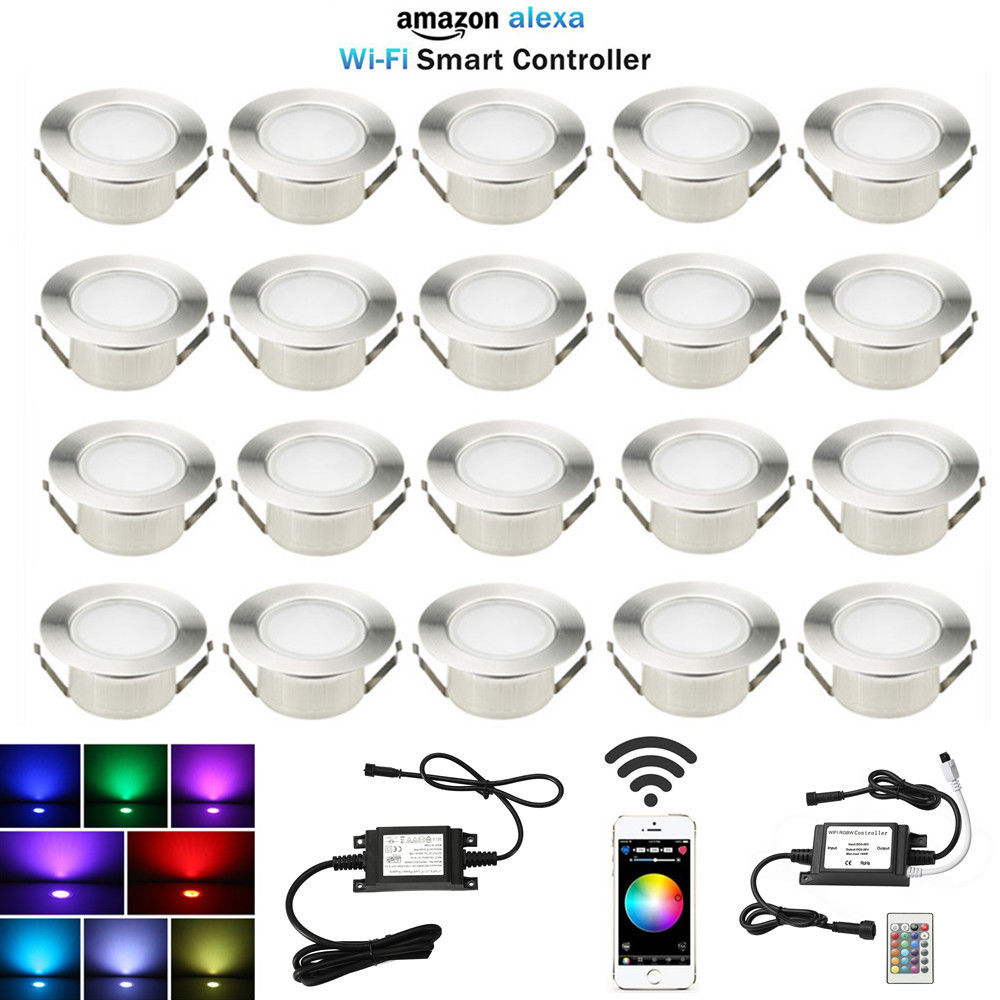 20X61 مللي متر الذكية WIFI APP ملون للتحكم/RGBW شرفة المطبخ ستاير الخطوة الطابق الصمام السكك الحديدية Soffit أضواء ل اليكسا صدى جوجل المنزل IFTTT