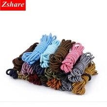 1 Pair Round Shoelaces Striped Double Color Shoe Laces Unisex Outdoor Sneaker Shoelace Length 70CM 90CM 120CM 150CM TW-2