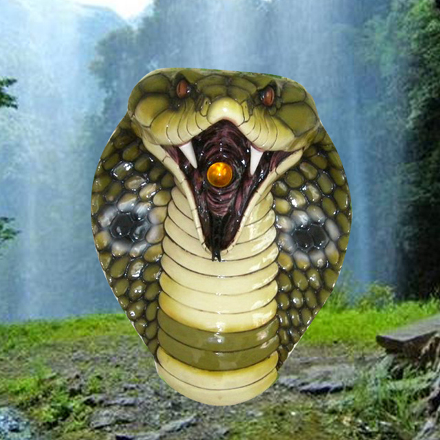 The simulation of snake zodiac animal head wall mural wall decorative pendant ornaments Mediterranean bar horror props