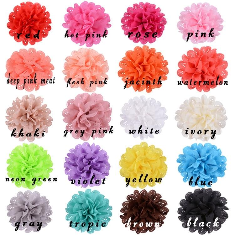 Nishine 30 pçs/lote grande ilhó flores para crianças grampos de cabelo bandana diy crianças meninas vestuário acessórios para o cabelo