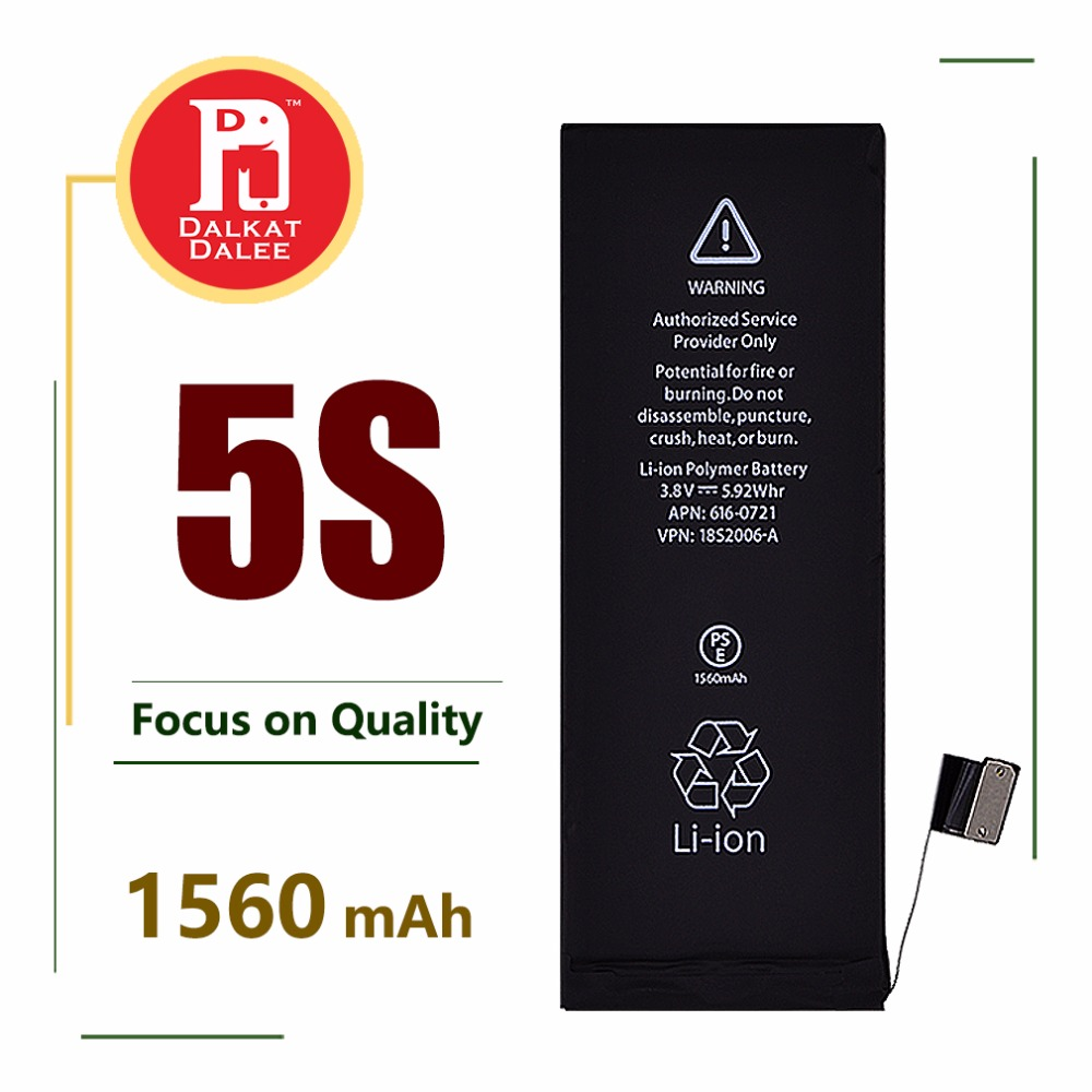 Battery-Replacement Cycle-Batterie Rechargeable IPhone 5s 1560mah For Real-Capacity Built-In