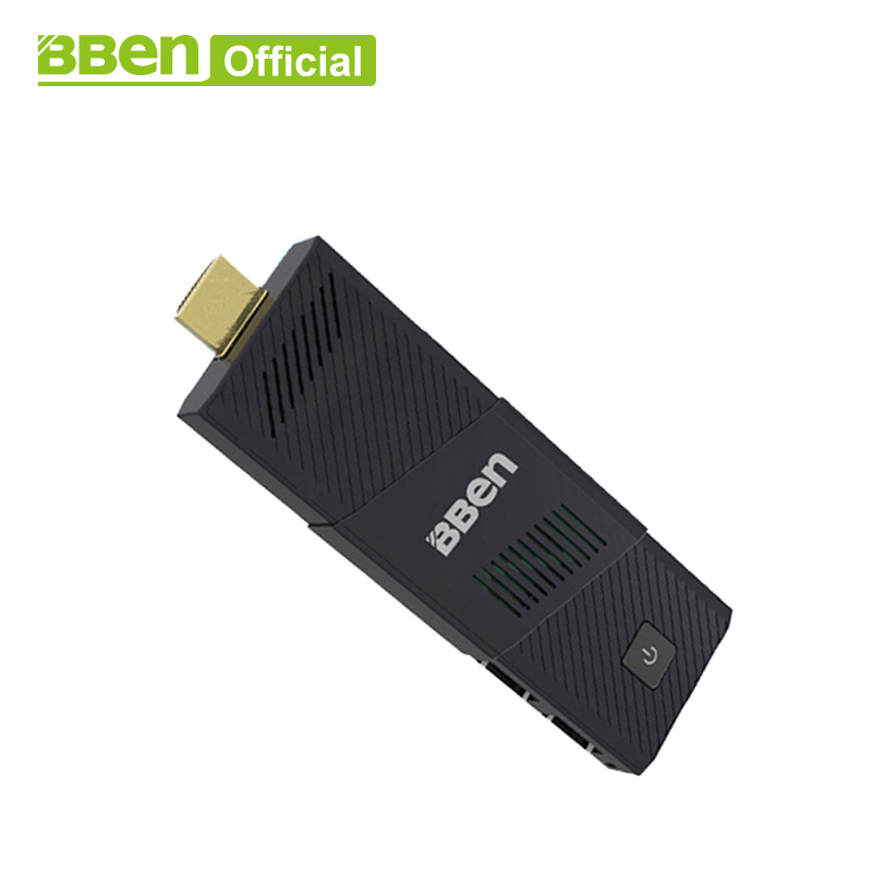 Bben MN9 ventilador intel mini pc windows10, 4 GB RAM 64 GB emmc mini pc stick reproductor USB3.0 wifi con ee.uu./enchufe de la UE