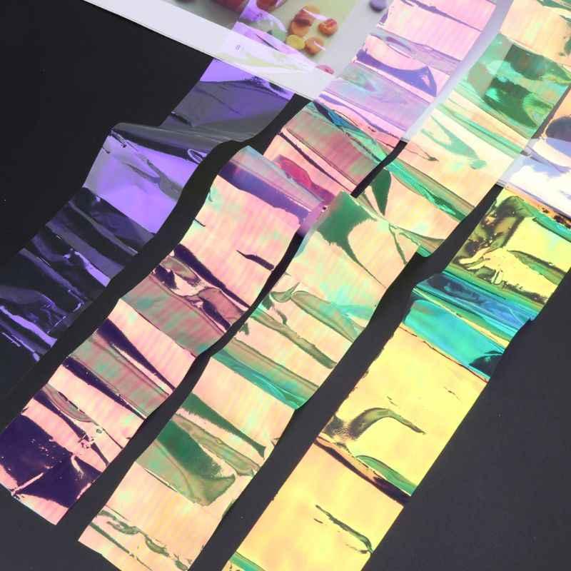 Papel de espejo reflectante láser Aurora efecto AB DIY resina epoxi rellenos de joyería W2952001