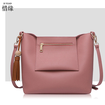 XIYUAN BRAND New 2017 women pink handbags female pu leather hand bag red crossbody bag shoulder messenger bags clutch tote+purse new punk fashion metal tassel pu leather folding envelope bag clutch bag ladies shoulder bag purse crossbody messenger bag