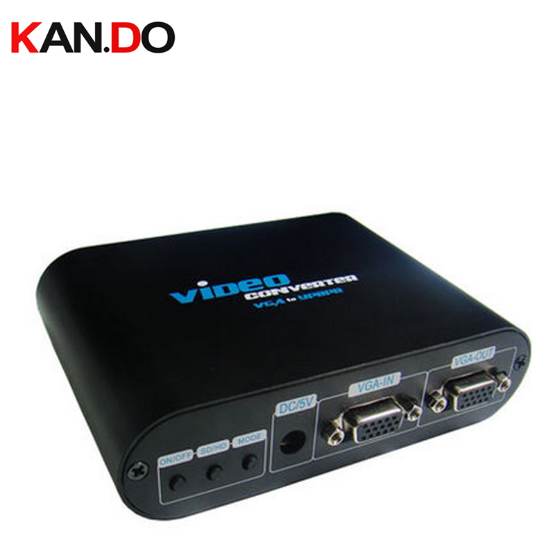 VGA to Component Video Converter,PC to TV VGA converter,converts PC VAG signal to display on TV,supports 480p 720P 1080P adapter pc to tv video converter adapter deep blue