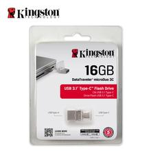 Kingston pen drive USB 3.0 U disk OTG MicroDuo Memory USB 16GB memory stick flash drive for smartphone