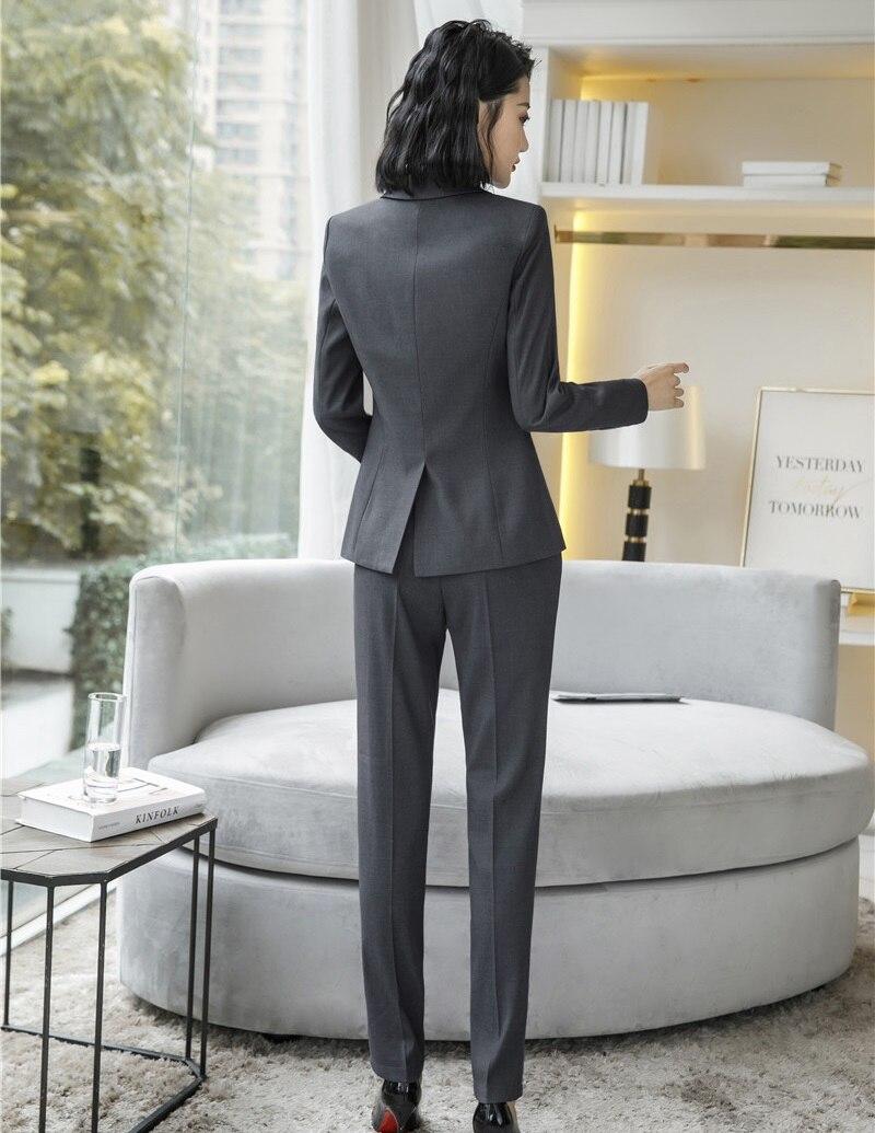 Vestes Avec D'affaires Gris Styles Vêtements Mode De Dames Et Professionnel Pantalons Femmes Pantalon Black Travail Uniforme Costumes grey Formelle nBgfCHwq