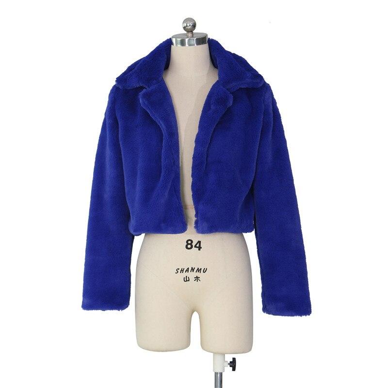 autumn winter faux fur coat short jacket-7