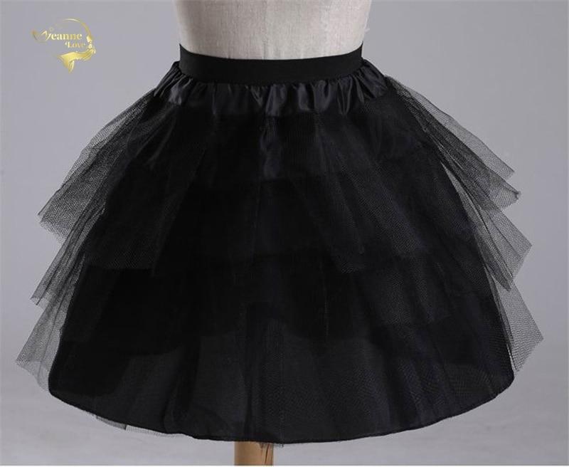 Top Quality Stock White Black Ballet Petticoat Tulle Ruffle Short Crinoline Bridal Petticoats Lady Girls Child Underskirt jupon 3
