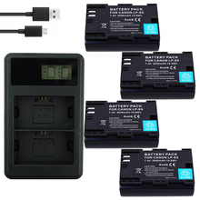 4PCS LPE6 LP-E6 LP E6 E6N Battery +LED USB Dual Charger for Canon EOS 60D 70D 5D Mark II 5D Mark III,5D Mark IV digital camera крем 5d