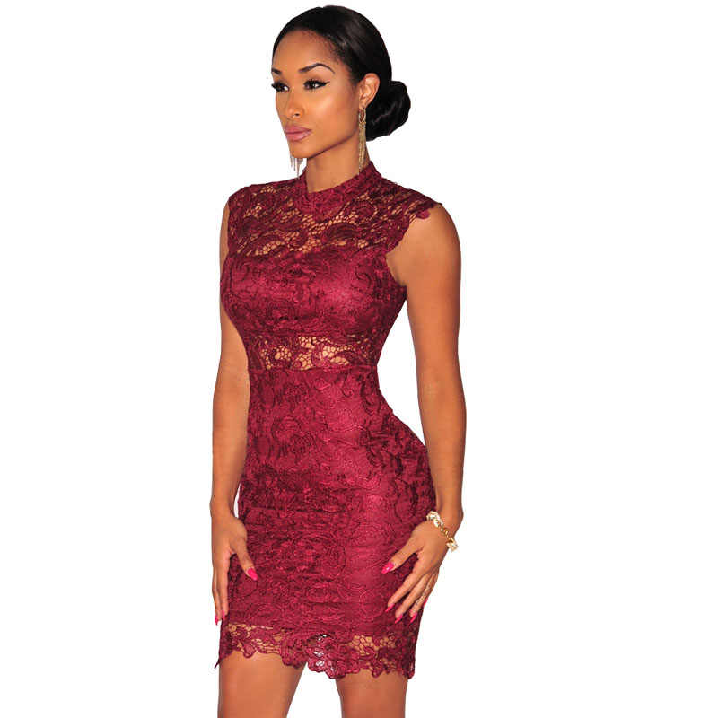 Vintage Bodycon Dress Short Sleeve Hollow Midi Lace Dress 2019 Sexy Party  Dresses For Women Summer 9600230e2775