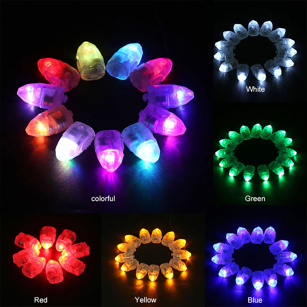 100 Pcs Coloured LED Balloon  Light Glow Flash Ball Lamps For Paper Lantern Christmas Wedding Party Decor Light