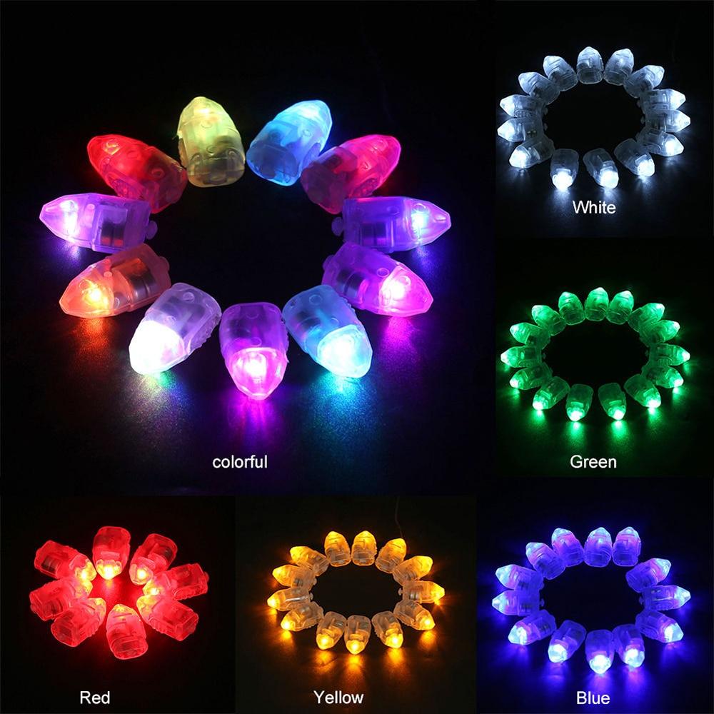 100 Pcs Coloured LED Balloon  Light Glow Flash Ball Lamps For Paper Lantern Christmas Wedding Party Decor Light