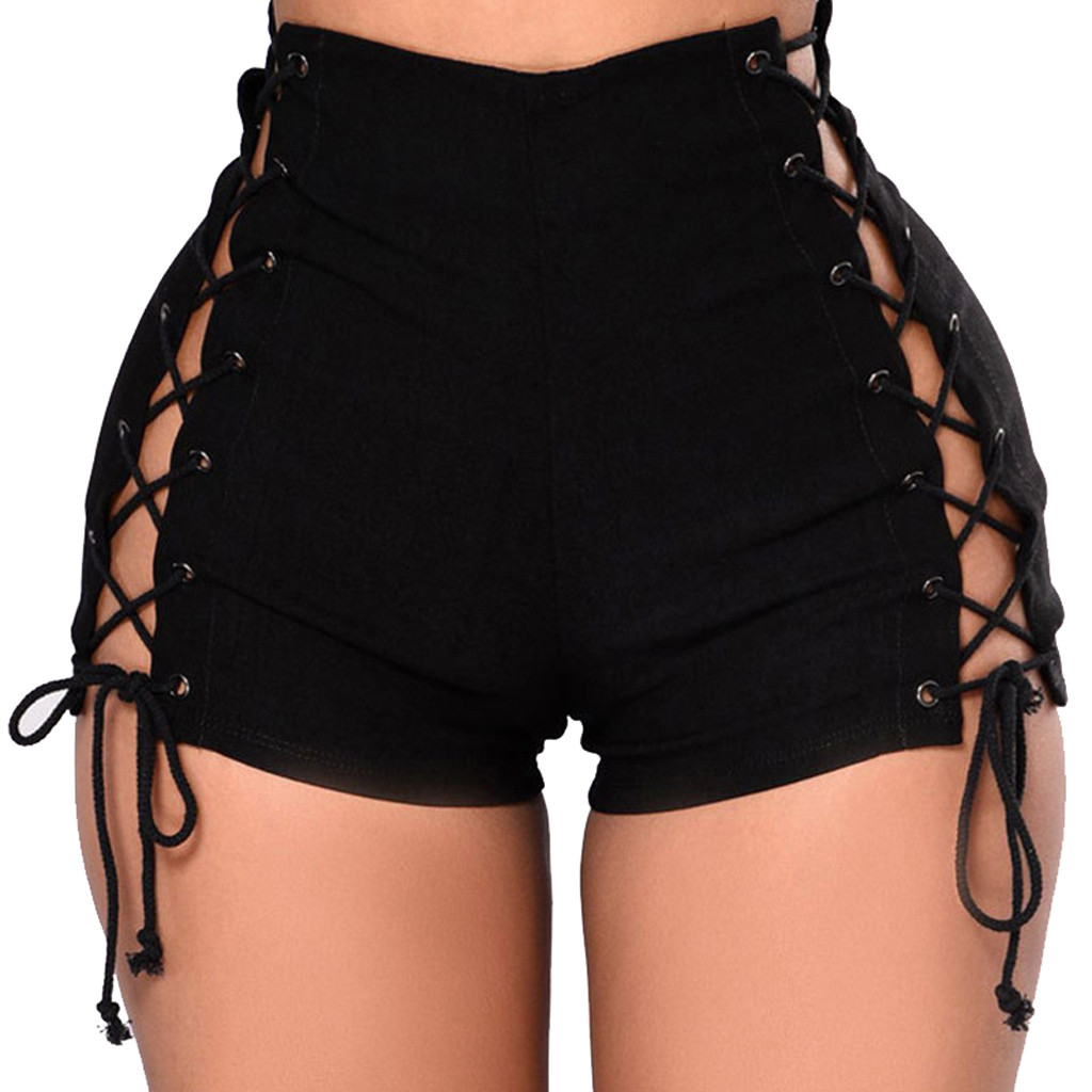 Vintage Snowflake Inelastic Women Denim Shorts With High Waist Straps Female Summer Shorts For Women's Jeans 2019 Plus Size