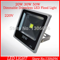 Ultrathin Dimmable Driverless LED Flood Light 20W 30W 50W Black AC220V Waterproof IP65 Floodlight Spotlight Outdoor Lighting