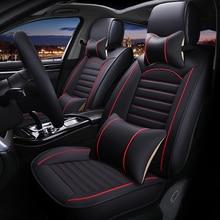 Leather Universal car seat cover for cadillac escalade ATS CTS SRX CT6 ATSL SLS XTS XT5 all models accessories
