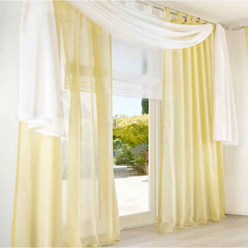 Luxury princess bedroom Tulle Voile Curtains Solid Color Sheer Curtain for Living Room wedding corina New Year Home decoration