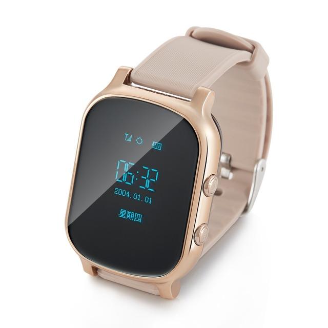 Inteligente Relógio Do Telefone T58 Crianças Kid Relógio De Pulso GSM GPRS Localizador GPS Tracker Criança Guarda de alarme Anti-Perdida Smartwatch para iOS Android