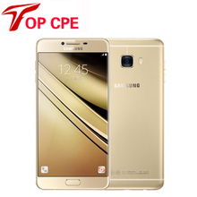 Оригинальный Samsung Galaxy C7 Мобильный Телефон 4 Г LTE Android 4 ГБ ОПЕРАТИВНОЙ ПАМЯТИ 32/64 ГБ ROM 16MP Камера 5.7 Дюймов Dual SIM Отремонтированы Сотовые Телефоны