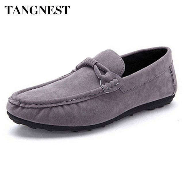 Tangnest Correa Ocasional de Los Hombres Los Hombres De Cuero Mocasines Pisos Flock Suave Clásica Slip-on de Conducción Zapatos Hombre Confort Zapatos Planos XMR1195