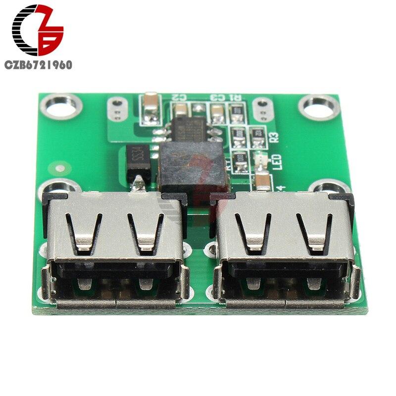 Двойной USB понижающий модуль питания для зарядки DC-DC 6В-24В до 5,2в 3а понижающий преобразователь трансформатор регулятор напряжения зарядное ...