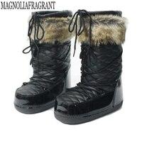 2018 New Fashion Waterproof Snow Boots Keep Warm Women S Boots Flat Winter Boots Platform Shoes