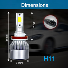 72W 8000LM Super bright Car Lights Bulbs Auto Bulbs LED H7 H4 H11 LED H1 H3 H13 880 9005 9006 9004 9007 LED Car Headlights(China)
