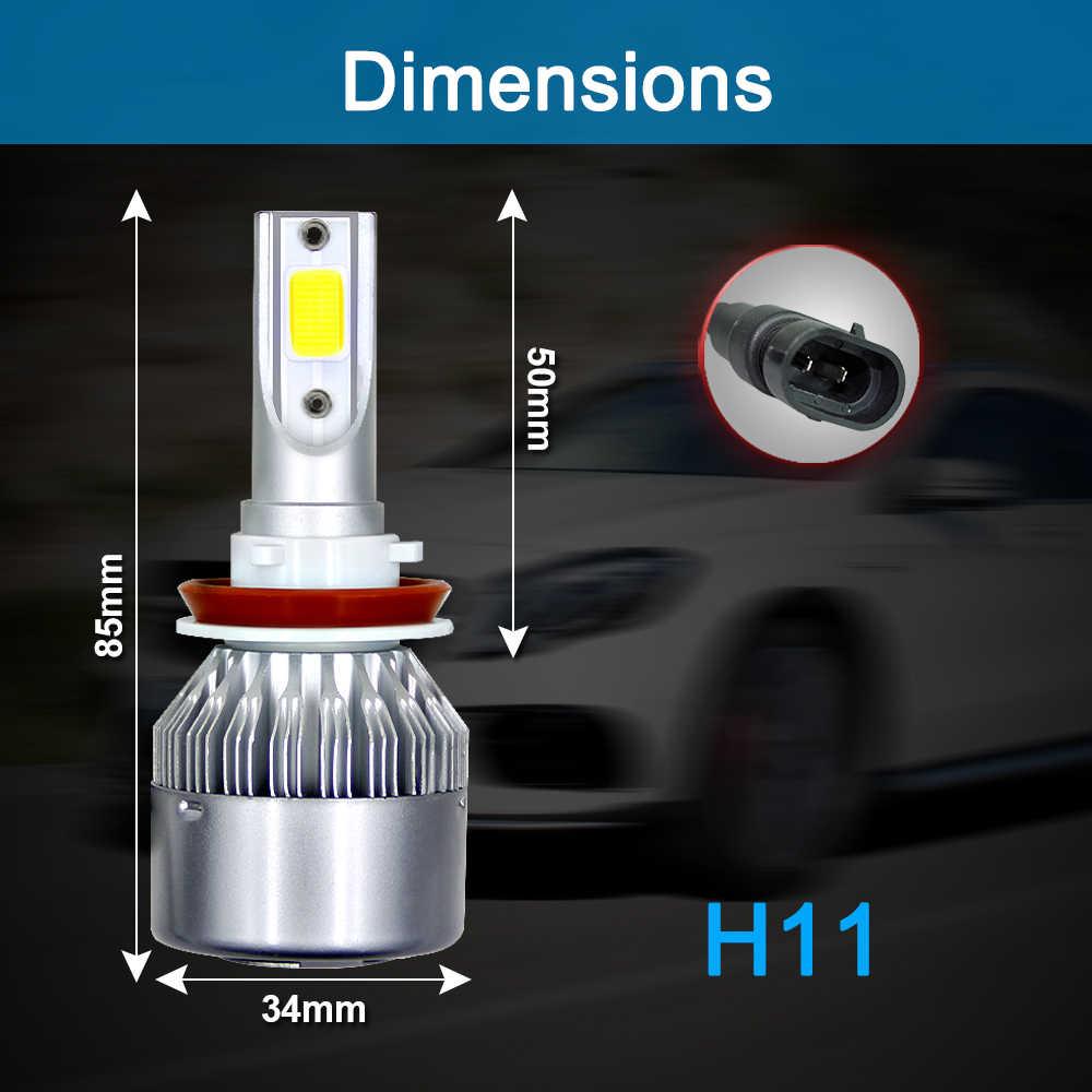 Ampoules phares de voiture 72W 8000LM | Phares très brillants de voiture 880 H7 H4 H11 9005 H1 H3 H13 9006 9004 9007