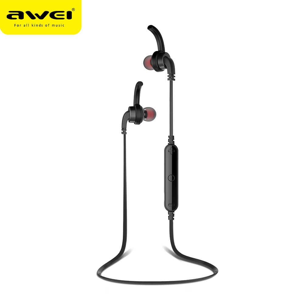 AWEI A960BL Bluetooth Earphones With Microphone Wireless Headphones Stereo Headset Sport fone de ouvido Auriculares Ecouteur showkoo stereo headset bluetooth wireless headphones with microphone fone de ouvido sport earphone for women girls auriculares