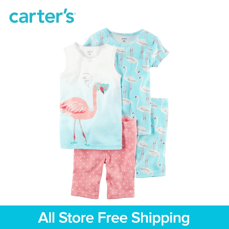Carter's 4pcs baby children kids Snug Fit Cotton PJs 331G354,sold by Carter's China official store carter s 1 pcs baby children kids long sleeve embroidered lace tee 253g688 sold by carter s china official store