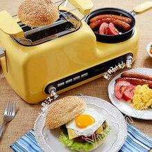 Домашняя машина для завтрака, сэндвич-машина, многофункциональный тостер, машина для выпечки хлеба, яичная плита, машина для жарки бекона