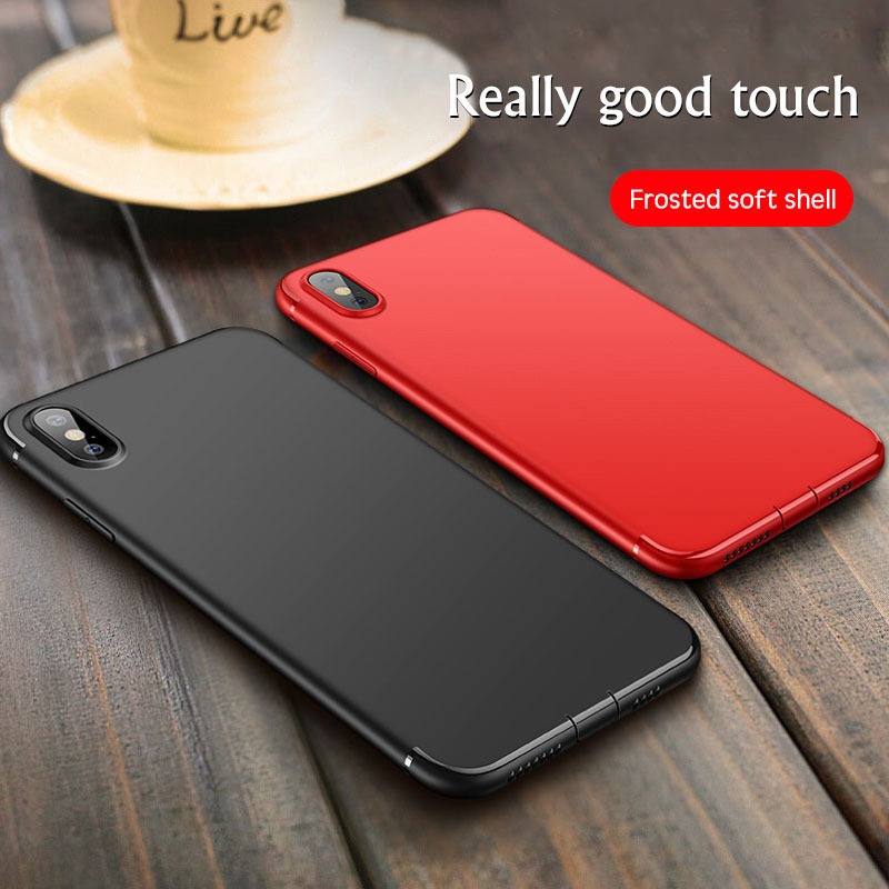 Luxury Silicone Soft Phone Case For iPhone XS XSMAX XR X Ultra Slim Black TPU Protection Cover For iPhone 7 8 6 6S Plus Shell in Fitted Cases from Cellphones Telecommunications