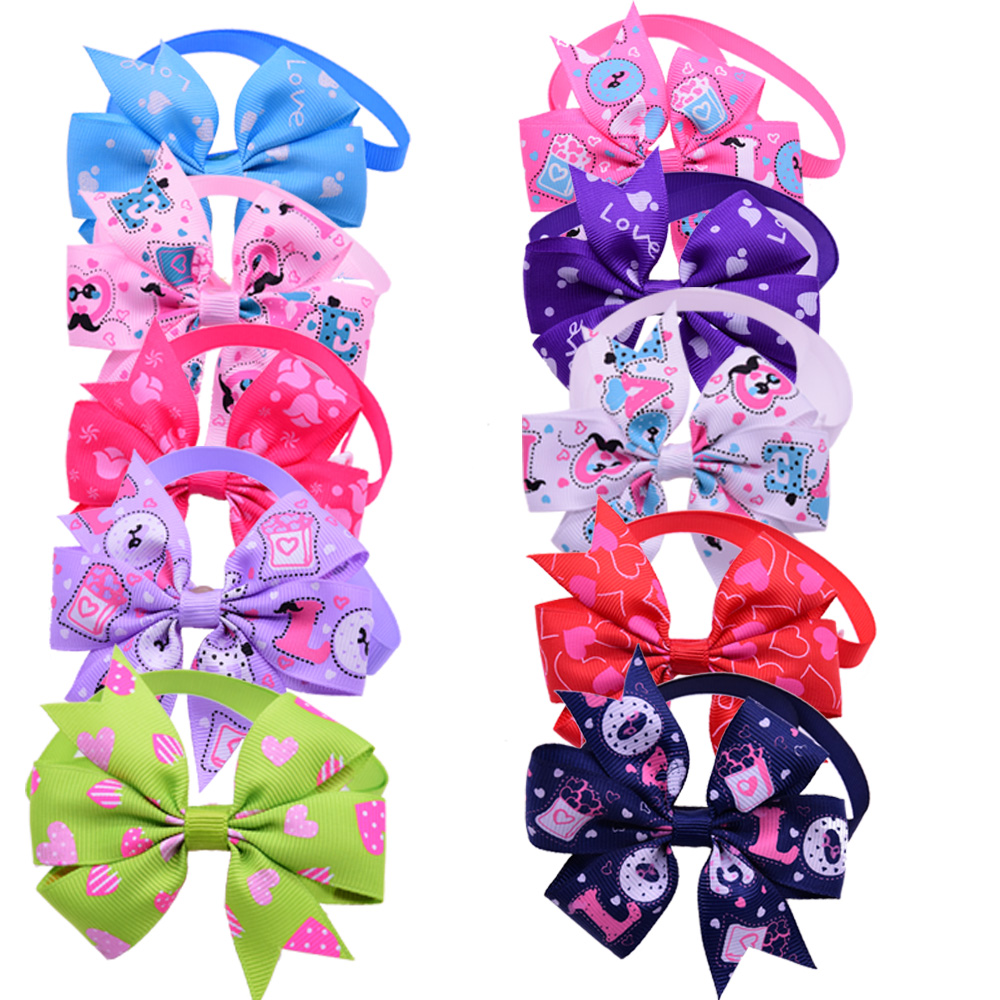 60pcs Valentine's Day Pet Puppy Dog Cat Bow Ties