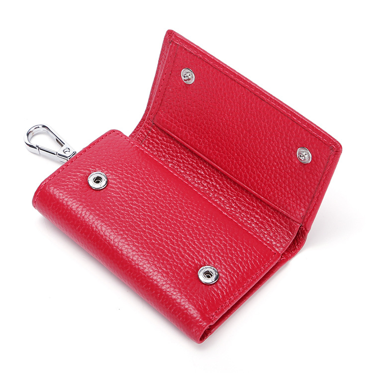 High Quality Genuine Leather Women Mini Wallet Coin Purse Credit Card Holder Multifunction Ladies Small key Wallets Money Bag