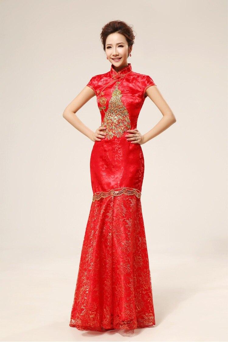 Freies verschiffen Chinesische hochzeitskleid brautkleider Rot