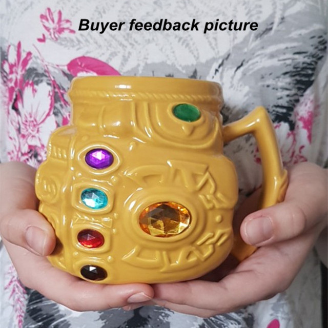 Marvel Thanos Gloves Fist Coffee Mugs Infinity Gems