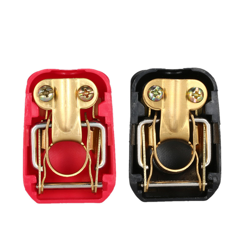 New 1 Pair 12V Quick Release Battery Terminals Clamps For Car Caravan Boat Motorhome
