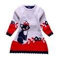 2-7Y Kid Девочка Осень Зима Двойной слой С Длинными рукавами Лиса Одежда Экипировка Набор