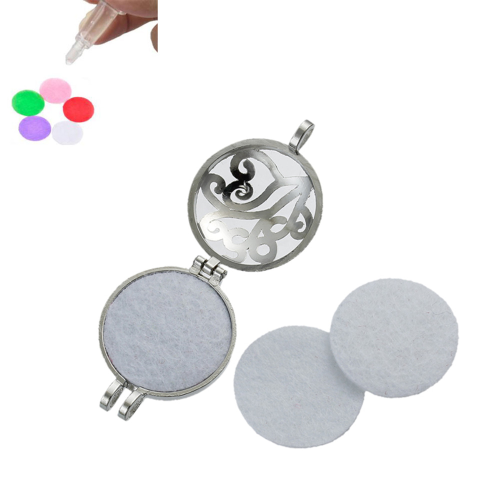 Nonwovens Felt Oil Diffuser Pads Fit 30mm Locket Round Craft DIY Supply, 30mm(1 1/8) Dia., 20 PCs