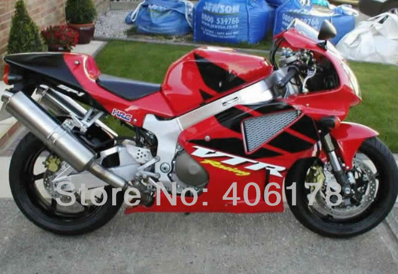 Vendite calde, RC51 SP1 SP2 Carenature per Honda vtr1000 Rc51 00-06 Rrvt1000RR 2000-2006 vtr 1000 rosso e Nero personalizzate moto carenatura