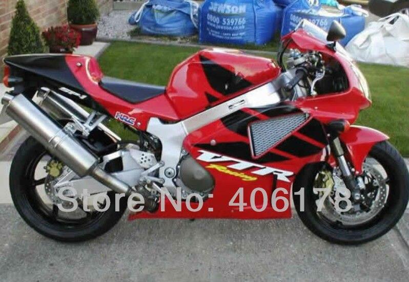 Ventes chaudes, RC51 SP1 SP2 Carénages pour Honda vtr1000 Rc51 00-06 Rrvt1000RR 2000-2006 vtr 1000 Rouge & Noir personnalisé moto carénage