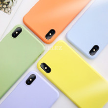 Soft Silicone Phone Case for iphone X XS MAX XR 7 8 6 6S Plus Soft Gel Rubber Candy Matte Cover Full Protective Case Fundas Capa(China)