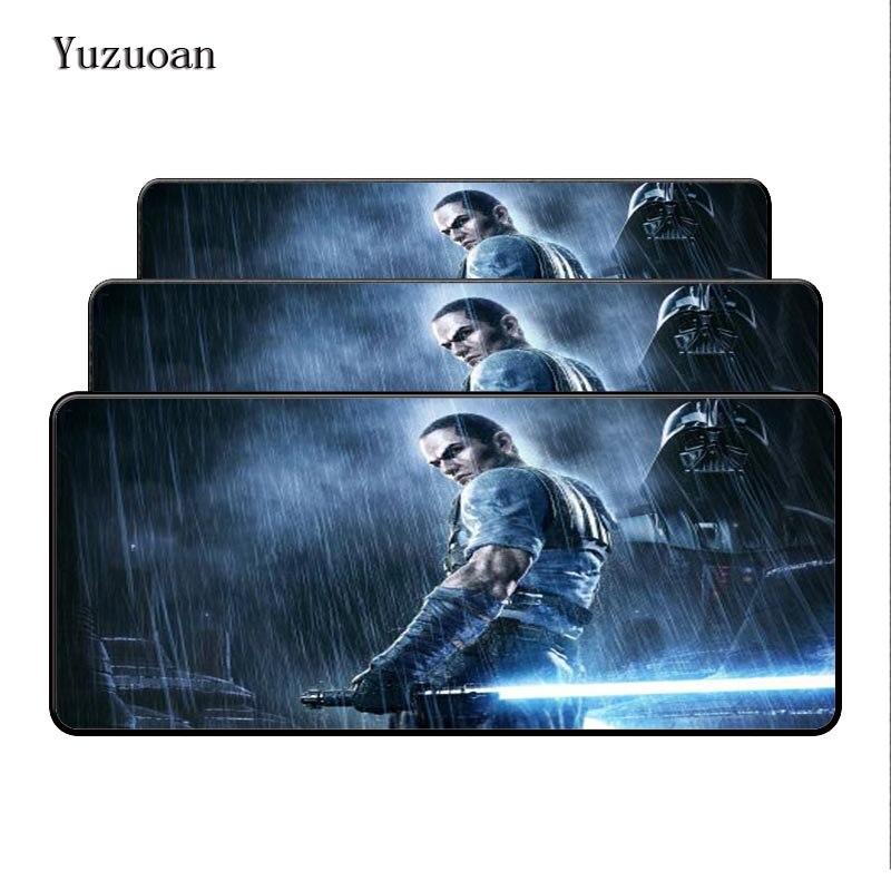Yuzuoan 900*400*2 мм большие Звездные войны Мышь площадку оверлок края большой игровой стол Коврики Мышь pad отправить Boyfriend Best подарок