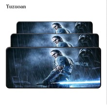 Yuzuoan 900*400*2mm Large Star Wars Mouse Pad pad Overlock Edge Big Gaming Desk Mat mouse Send BoyFriend the Best Gift