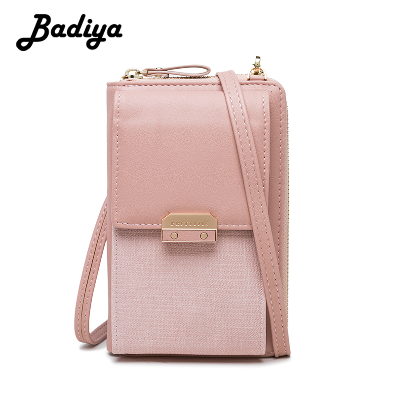 New Leather Women Crossbody Bag Lady Cell Phone Clutch Women's Wallet Zipper Messenger Bag For Woman Hasp Shoulder Bags Card Bag