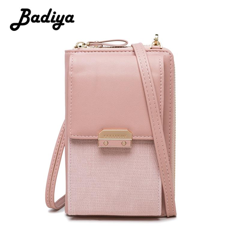 New Leather Women Crossbody Bag Lady Cell Phone Clutch Women's Wallet Zipper Messenger Bag For Woman Hasp Shoulder Bags Card Bag